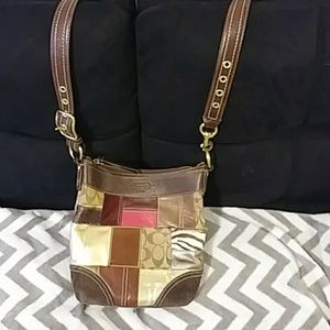 NWOT COACH PATCHWORK SUEDE LEATHER N SNAKE